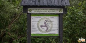 Tablica Parku Narodowego Mawrowo