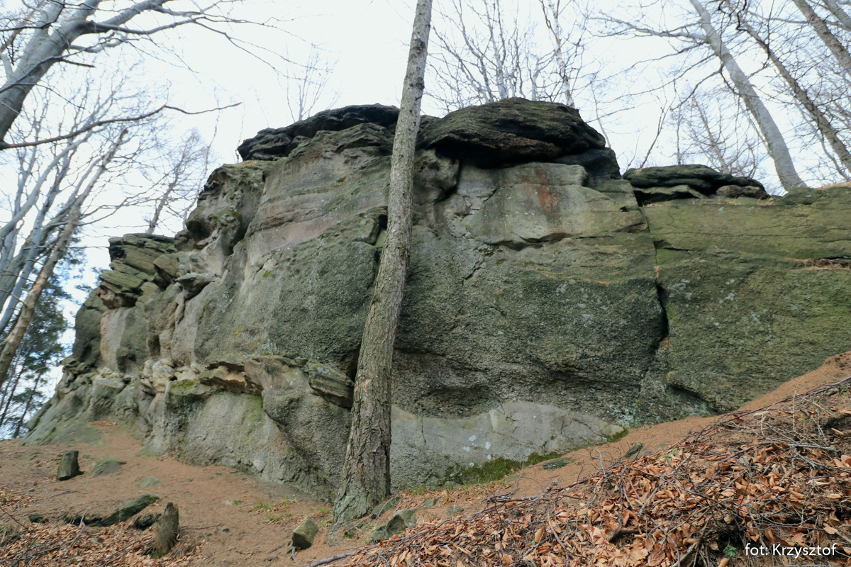 Wychodnia na szczycie Kamień