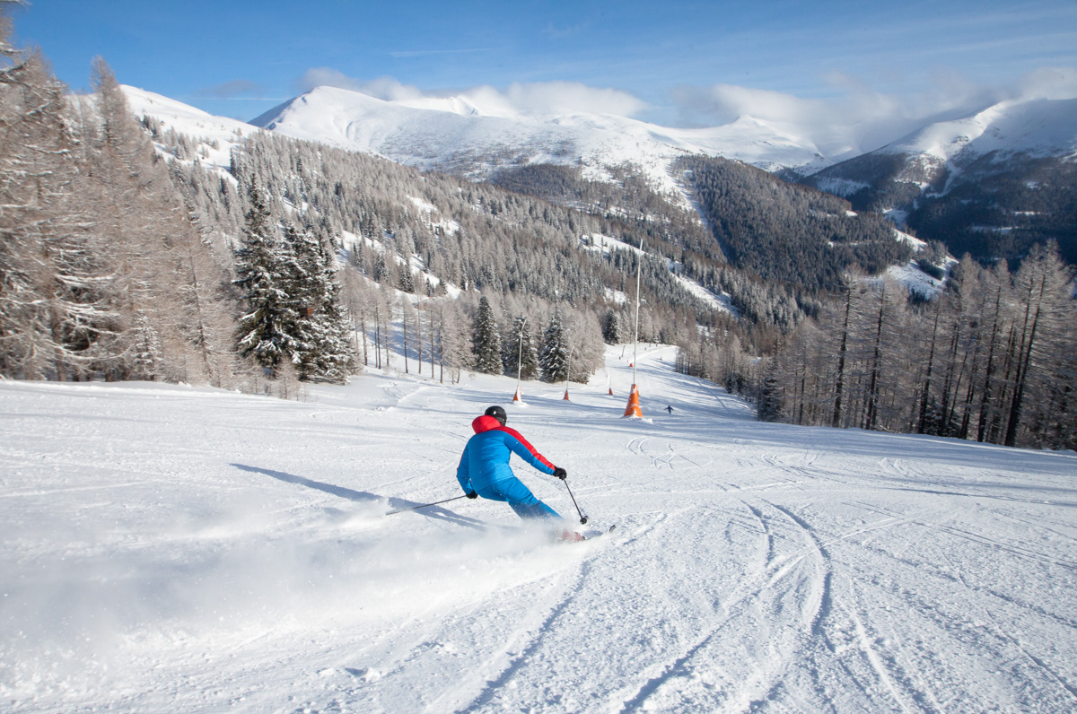 Skifahren Panorama Biosphaerenpark © BRM - Mathias Praegant