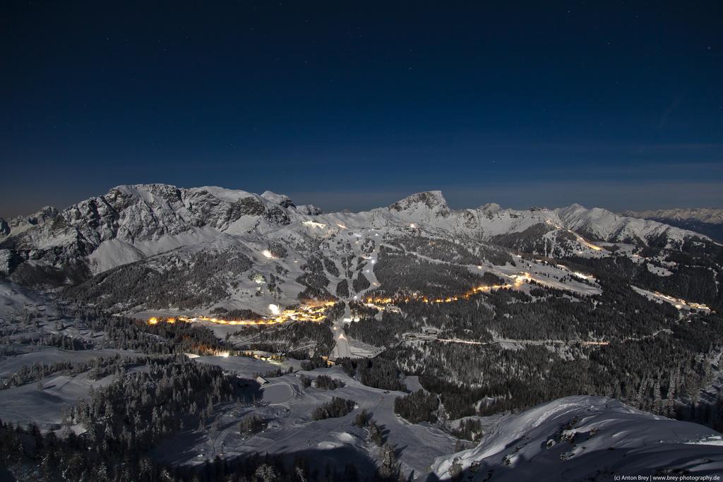 Ośrodek narciarski Nassfeld nocą