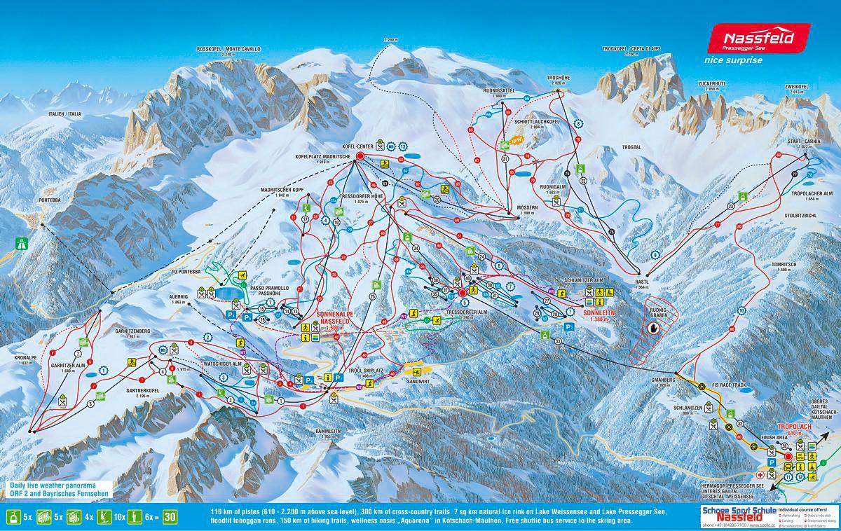 Nassfeld ski panorama
