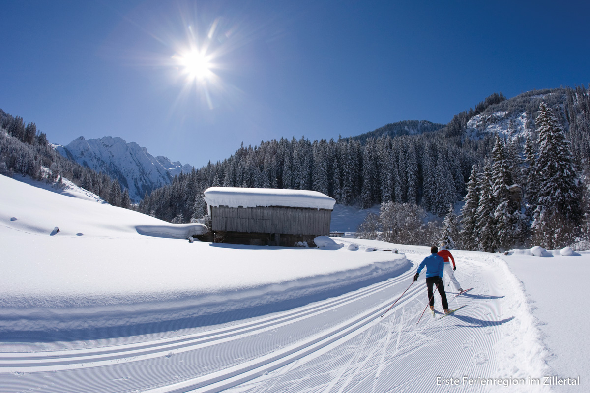 Skilanglauf (Scating) in Gerlos, Zillertaler