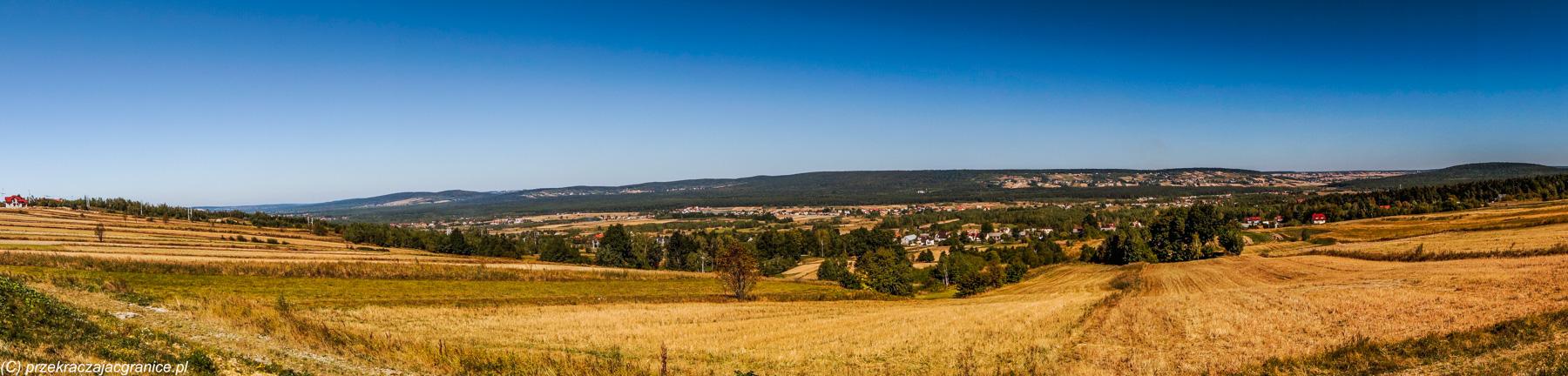 Panorama4 Gór Świętokrzyskich w okolicach Świętej Katarzyny
