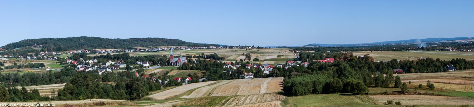 Panorama ze zbocza Domaniówki