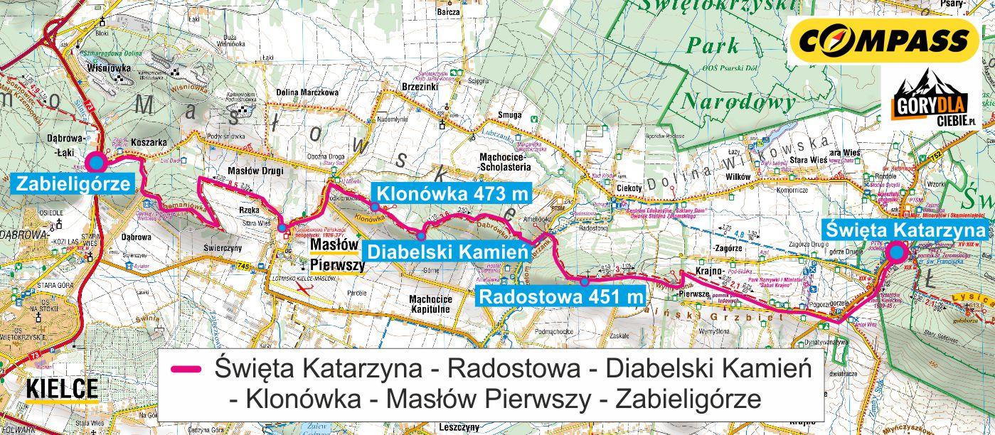 Szlak Świętokrzyski mapa 3