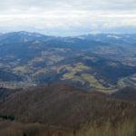 Widoki z wieży widokowej na Koziarzu