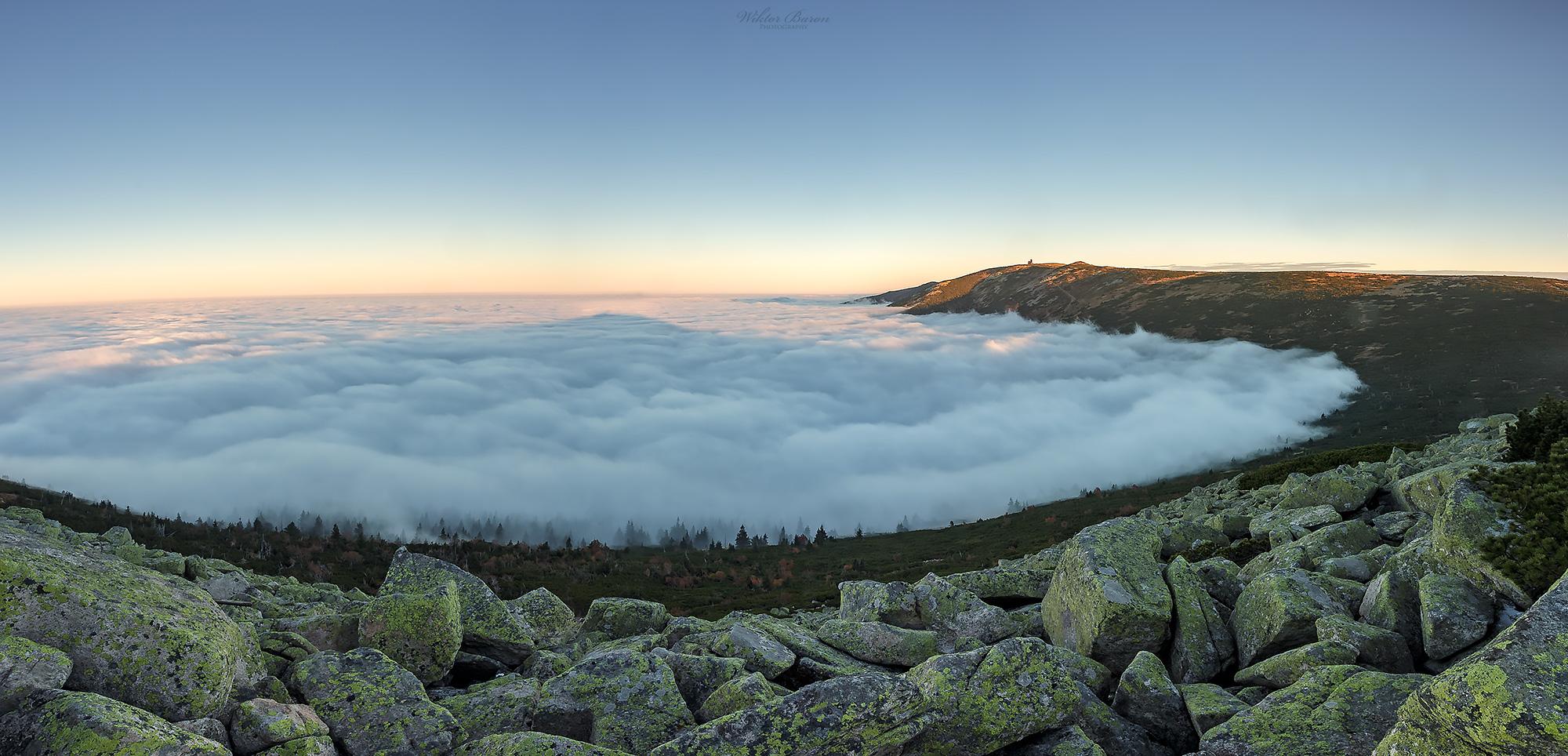 Morze chmur w Szrenickim Kotle