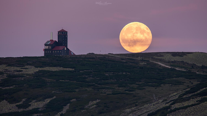 Pełnia księżyca w Karkonoszach