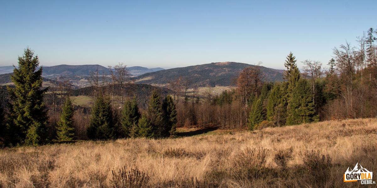 Widok z polany Francula na Lubogoszcz, Lubomir i Cwilin