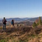 Widok z polany Francula na Szczebel, Lubogoszcz, Lubomir i Cwilin