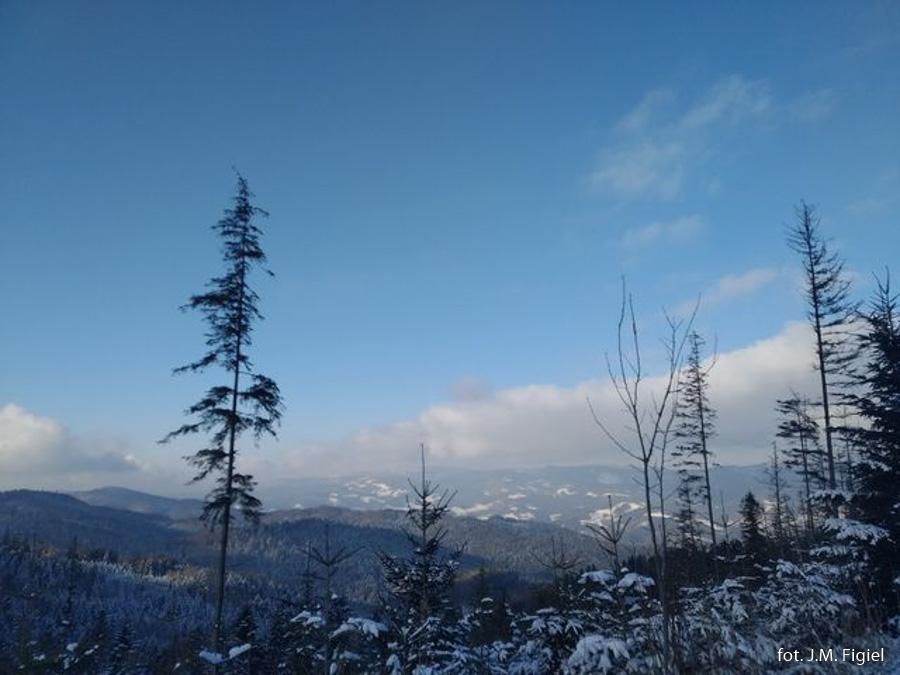 Zimowe pejzaże pod Lubaniem