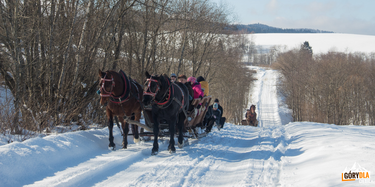 Bieszczadzki Worek zimą