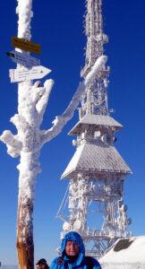 Zamarznięte Skrzyczne (1257 m)