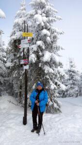 Autorka na szczycie Malinów (1117 m )