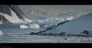 Trzy Sztuki w Antarktyce - kadr z filmu