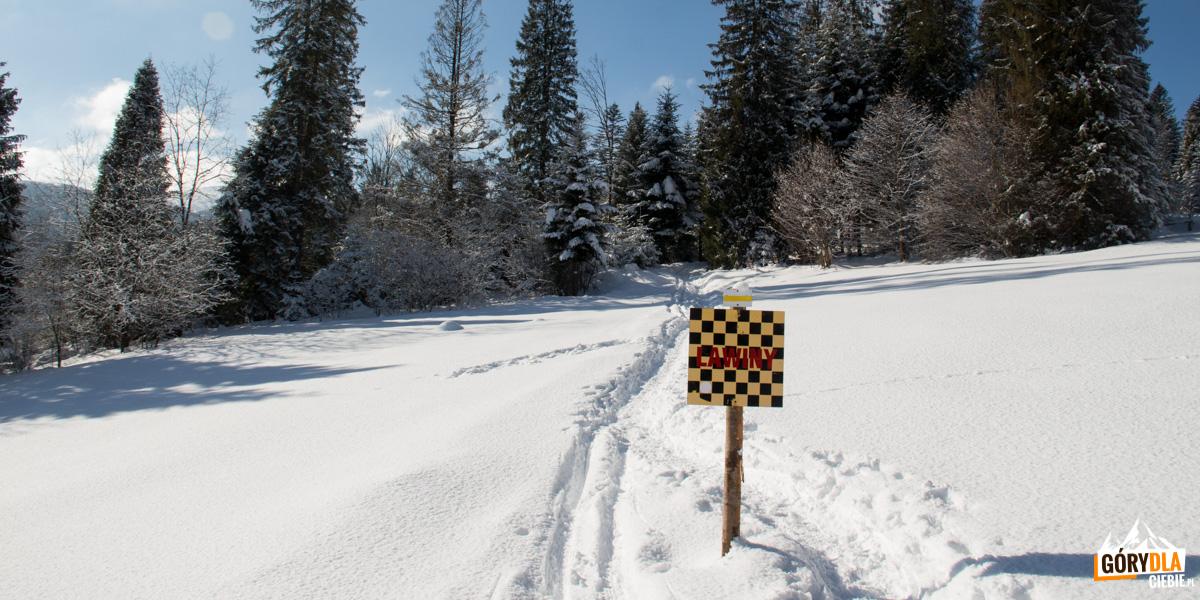 Ostrzeżenie o lawinach na szlaku z Mucznego na Bukowe Berdo