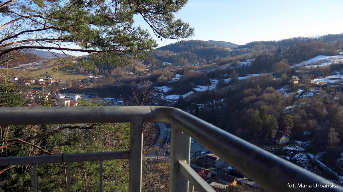 I jeszcze rzut oka na panoramę Piwnicznej Zdrój