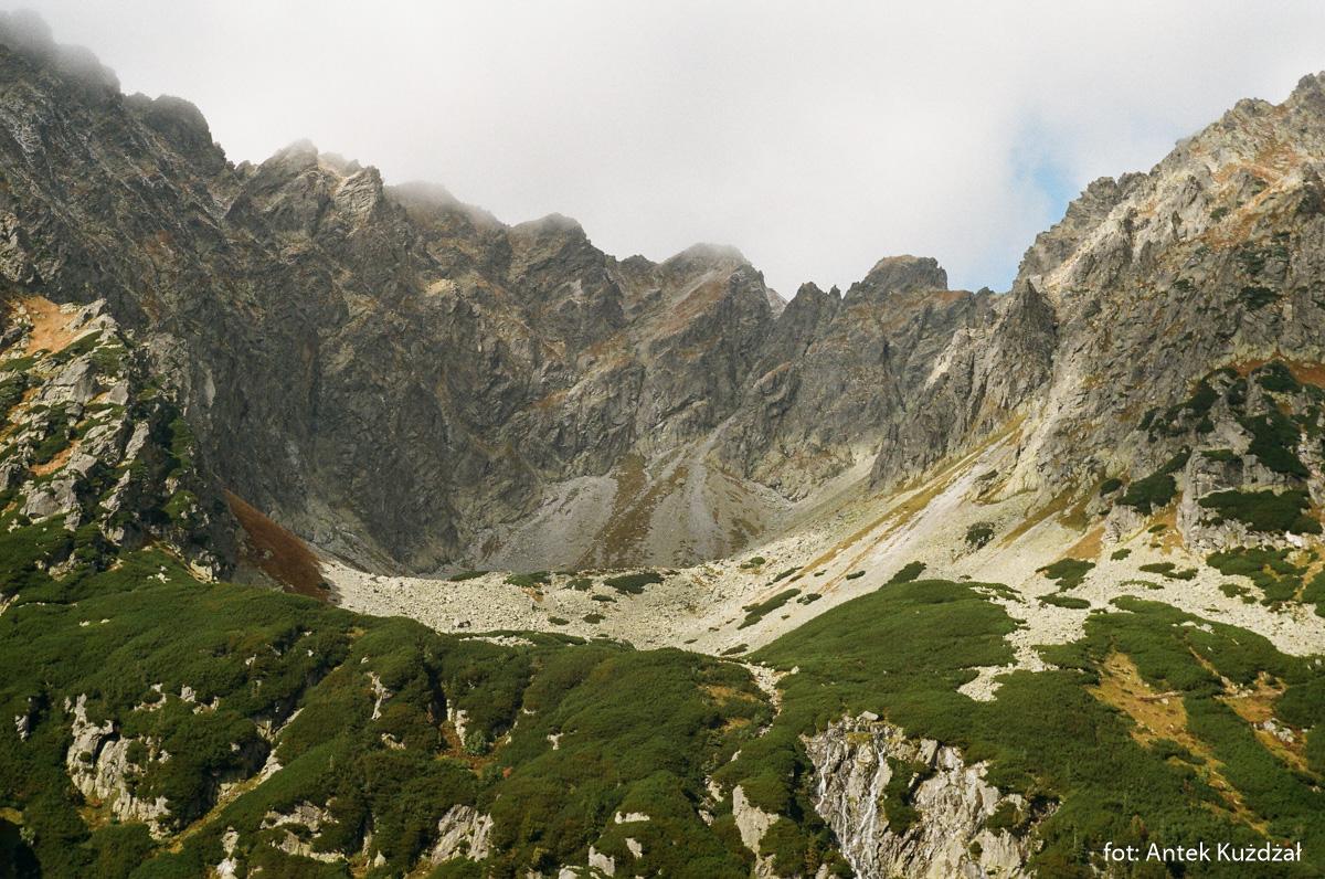 Buczynowa Dolinka otoczona granią Orlej Perci